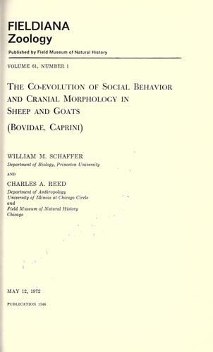 The co-evolution of social behavior and cranial morphology in sheep and goats (Bovidae, caprini)