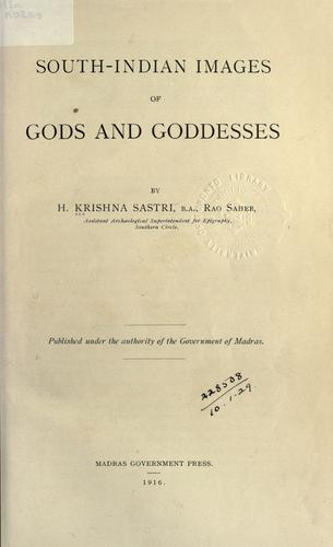 South-Indian images of gods and goddesses.