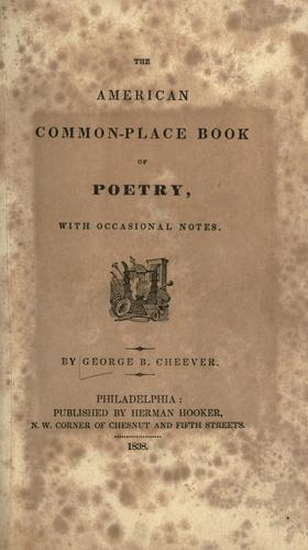 The American common-place book of poetry