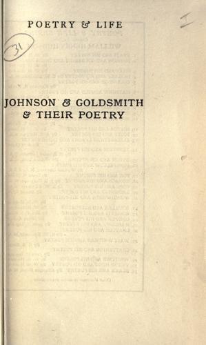 Johnson & Goldsmith & their poetry.