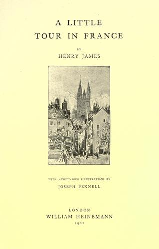A little tour in France by Henry James, Jr.