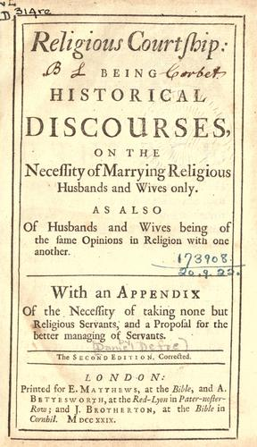 Download Religious courtship