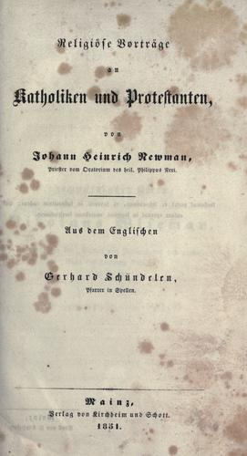 Download Religi©·ose Vortr©·age an Katholiken und Protestanten