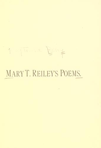 Mary T. Reiley's poems.