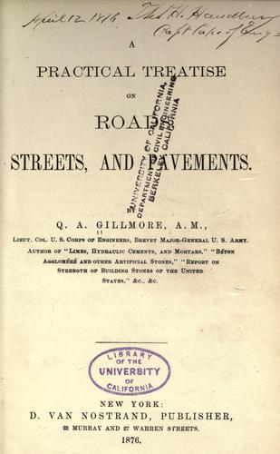 Download A practical treatise on roads, streets, and pavements