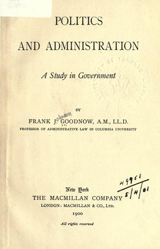 Download Politics and administration