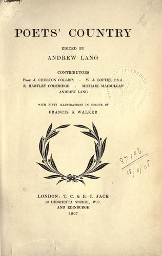 Poets' country by Andrew Lang