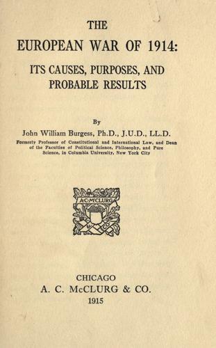 Download The European War of 1914