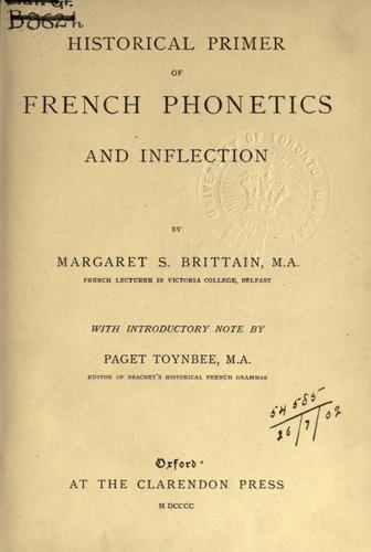 Historical primer of French phonetics and inflection.