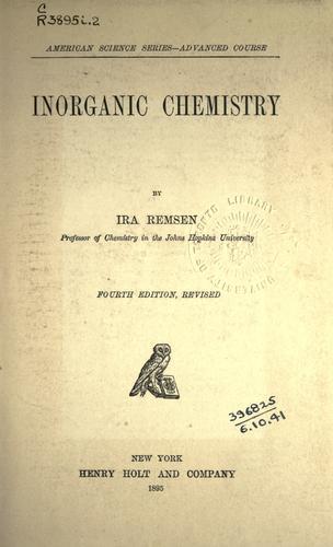 Download Inorganic chemistry.