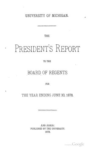 The President's Report to the Board of Regents for the Academic Year …: Financial Statement …