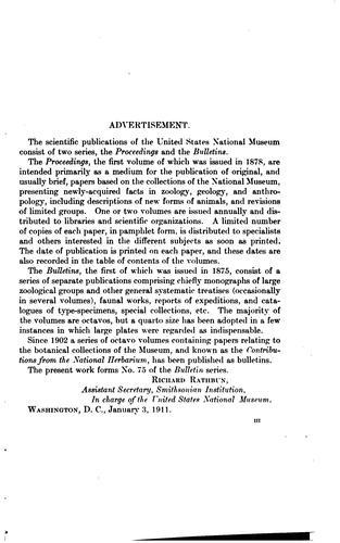 Bulletin – United States National Museum.