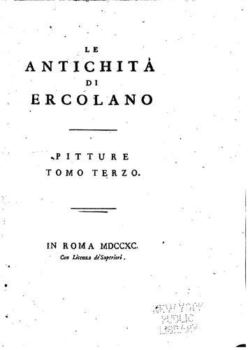 Le antichità di Ercolano