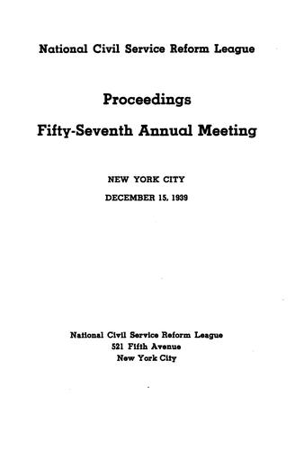 Proceedings of The … Annual Meeting