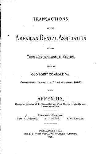 Transactions of the American Dental Association at Its … Annual Session