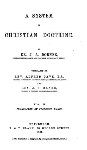 A System of Christian Doctrine