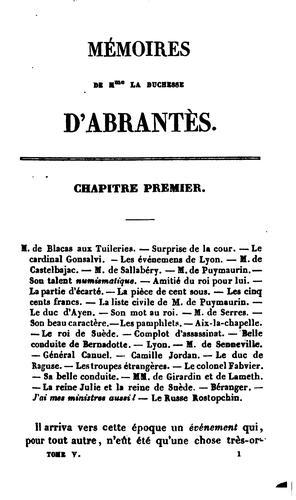 Mémoires sur la Restauration, ou Souvenirs historiques sur cette époque, la Révolution de 1830 …