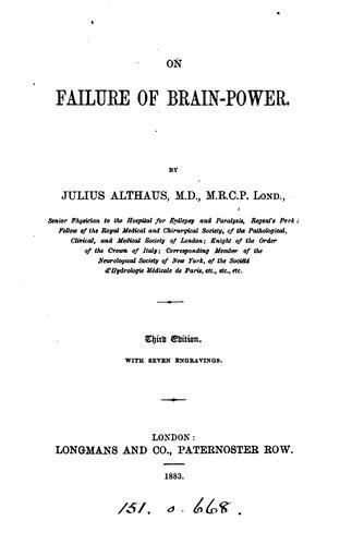 On failure of brain-power