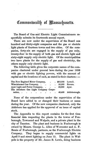 Annual Report of the Board of Gas and Electric Light Commissioners of the …