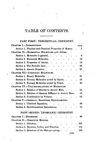 A Text-book of elementary chemistry: Theoretical and Inorganic