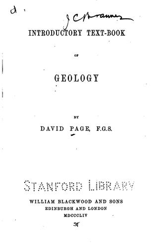 Introductory Text-book of Geology