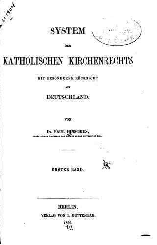 System des katholischen Kirchenrechts mit besonderer Rücksicht auf Deutschland