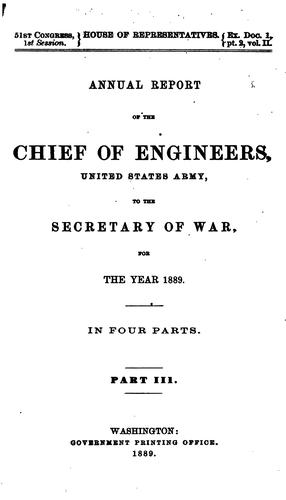 Annual Report of the Chief of Engineers to the Secretary of War for the Year …