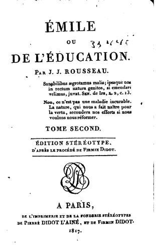 Download Émile: ou, De l'éducation