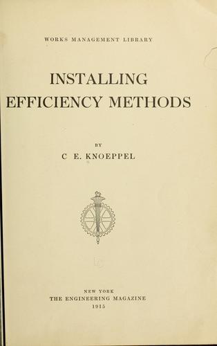 Download Installing efficiency methods.
