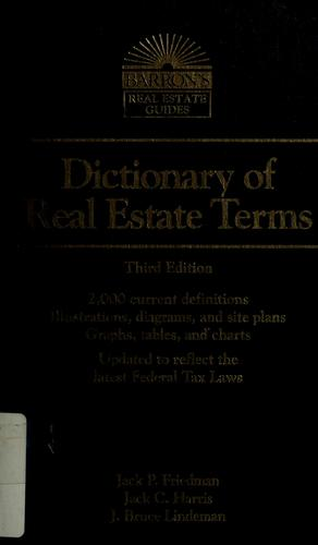 Download Dictionary of Real Estate Terms