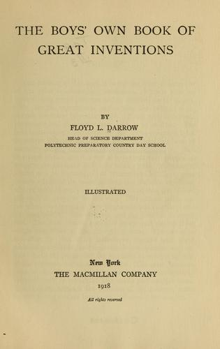 The boy's own book of great inventions