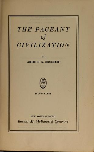 The pageant of civilization