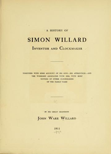 A history of Simon Willard