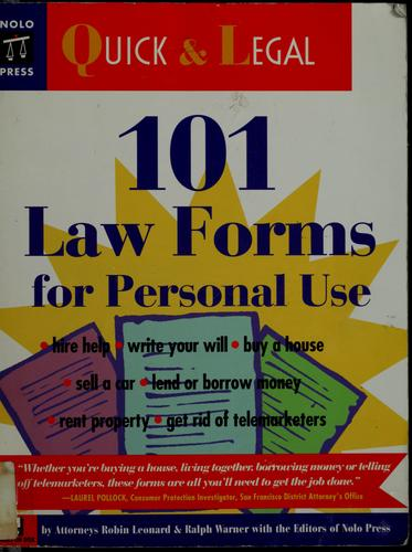 Download 101 law forms for personal use