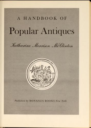 A handbook of popular antiques
