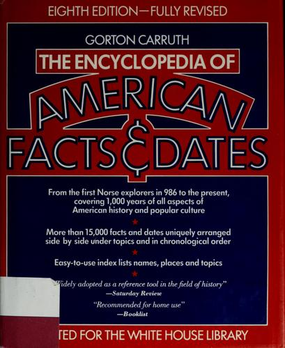 The encyclopedia of American facts & dates