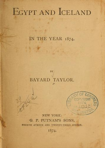 Download Egypt and Iceland in the year 1874.