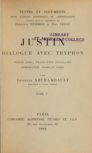 Dialogue avec Tryphon