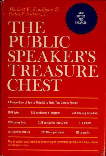 Download The public speaker's treasure chest
