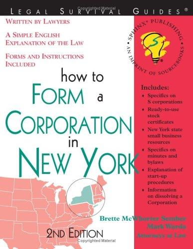 Download How to form a corporation in New York