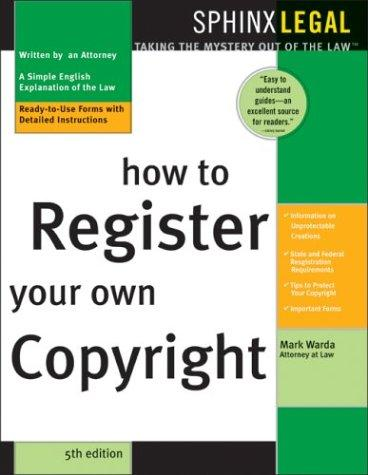 How to register your own copyright by Mark Warda