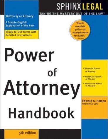 Power of attorney handbook