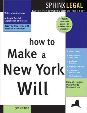 Download How to make a New York will