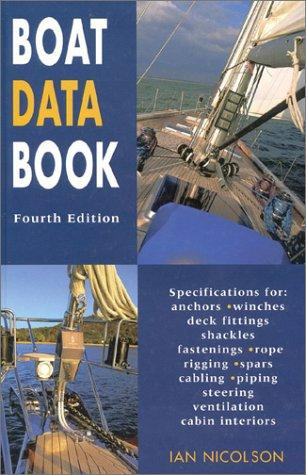 Boat data book by Ian Nicolson