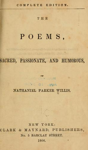 The poems, sacred, passionate and humorous