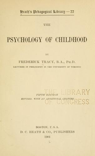 The psychology of childhood …