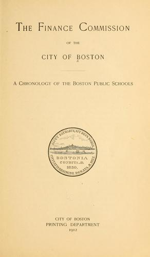 A chronology of the Boston public schools.