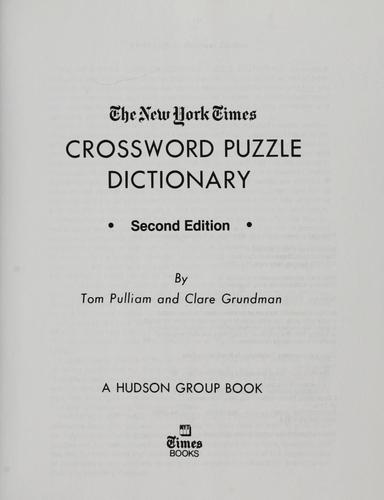 Download The New York times crossword puzzle dictionary