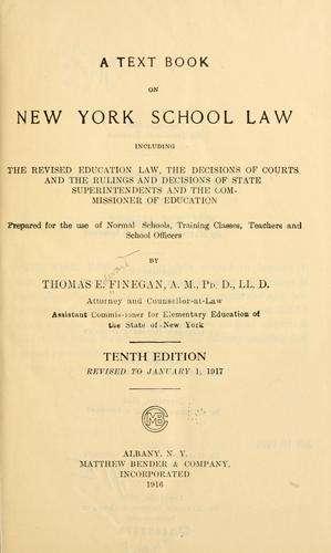 Download A text book on New York school law