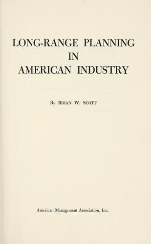 Download Long-range planning in American industry